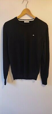 J Lindeberg Black, Crew Neck Jumper, Medium • 4.20£