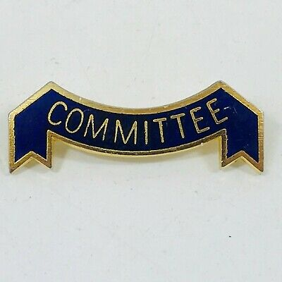 Committee  Enamel Lapel  Badge Gold With Blue Background • 4.99£