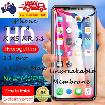 AU7.99 • Buy Front & Back Hydrogen Gel Protector For IPhone 12 6 7 8 Plus 11 Pro XS Max XR