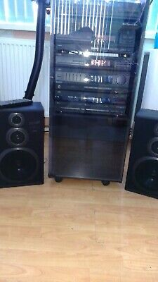 JVC Stack Hi Fi System With Cabinet. • 62£