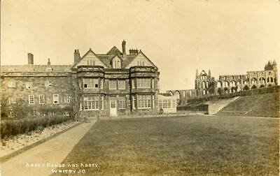 Real Photographic Postcard Of Abbey House, Whitby, North Yorkshire By Jt Ross#20 • 10£