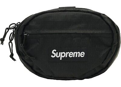 $ CDN191.43 • Buy Supreme Waist Bag Black Fanny Pack FW18 New In Hand 100% Authentic