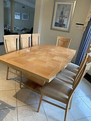 AU600 • Buy Wooden Dining Table With 8 Leather Chairs