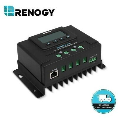Renogy Rover Elite 40A MPPT Solar Regulator 12V 24V Battery Charge Controller • 115.99£