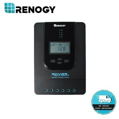 Renogy Rover Li 20A MPPT Solar Charge Controller Auto 12V 24V Battery Regulator • 71.99£