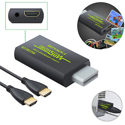 Wii2HDMI Audio Video Output HDMI Cable Wii To HDMI 3.5mm Audio Converter Adapter • 6.55£