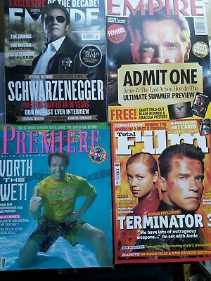 Empire Magazine 48&281/Premiere/Total Film 78 Arnold Schwarzenegger Collection • 7£