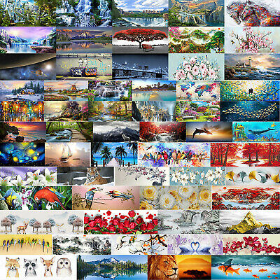85 Styles 5D DIY Diamond Painting Full Drill Embroidery Kit Home Decor 80*30cm • 12.14£