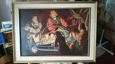 Astronomer Lecturing On The Orrery - Oil Painting • 350£