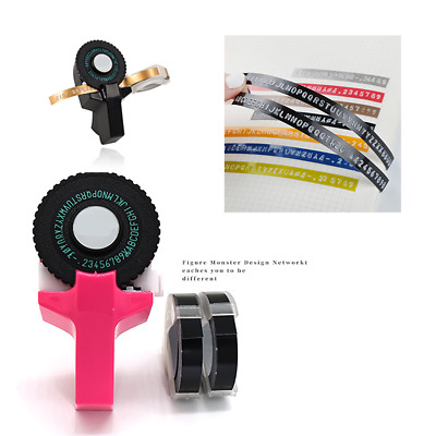 Manual Embossing Maker Letter Typewriter Printer Label  Refill With Free 2 Tapes • 7.91£