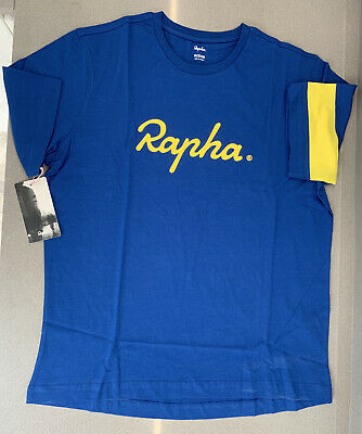 Rapha Yorkshire T-Shirt Blue Size Large 100% Cotton Brand New With Tag  • 14.99£