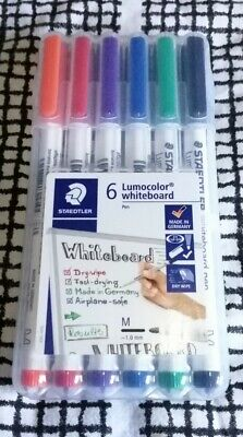 Brand New Staedtler Lumocolor 6 Pack Assorted Colours Whiteboard Pens  • 6.99£