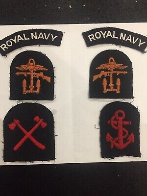 WW2 British Army & Royal Navy Cloth Badges. Combined Operations. BD Insignia. • 6.50£