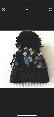 £4 • Buy Next Girls Black Sequin Hat Age 5-6 Years  BNWT Tag £9