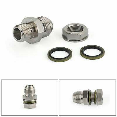 $11.92 • Buy 1 Set Oil Pan Oil Return Drain Plug Turbo Adapter Bung Fitting Kit 10AN No Weld