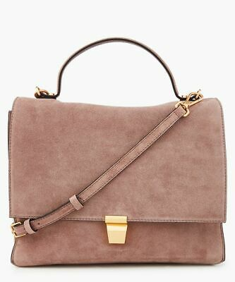 Coccinelle Frances Suede Grab/crossbody Bag - Pink - Bnwt • 174£