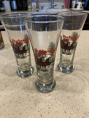 $ CDN31.28 • Buy 3 Budweiser Beer 1989 Glasses Mug Clydesdale Horse Wagon Anheusr-busch Set