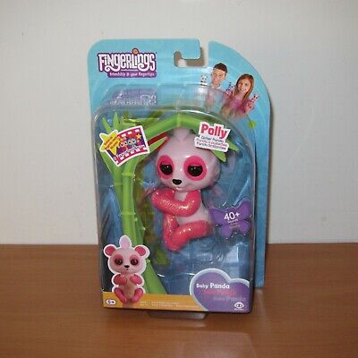 AU39.99 • Buy WowWee Fingerlings POLLY Glitter Baby Panda Interactive Electronic Pet Toy ~ NEW