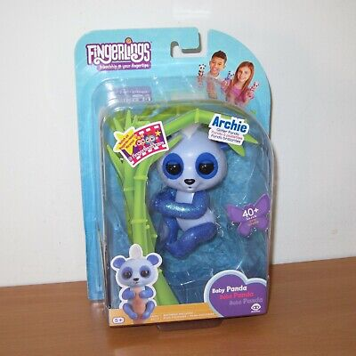 AU39.99 • Buy WowWee Fingerlings ARCHIE Glitter Baby Panda Interactive Electronic Pet Toy NEW