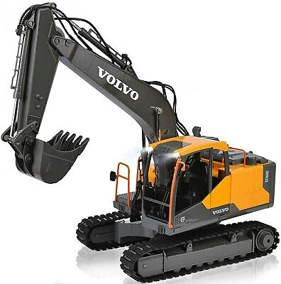 DOUBLE E RC Excavator Construction Truck 17 Channel 1/16 Scale Truck Digger Toy • 94.95£