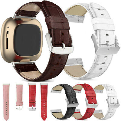 $ CDN8.26 • Buy For Fitbit Sense / Versa 3 Genuine Leather Watch Band Strap Wristband Bracelet