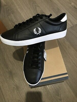 Fred Perry Spencer Leather Black Shoes Trainers B5141, Uk Size 7 Eur 41 • 29.99£