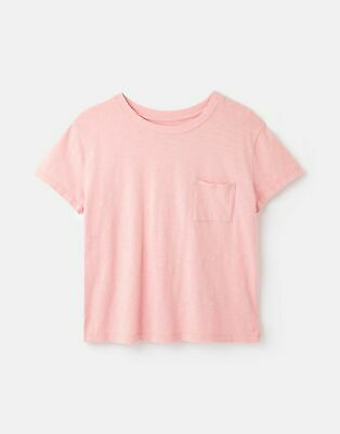 Joules Womens Sofi Pocket T-Shirt - Bridal Rose • 7.95£
