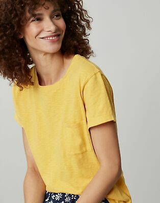 Joules Womens Sofi Pocket T-Shirt - Yellow • 7.95£
