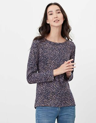 Joules Womens Harbour Long Sleeve Jersey Top - Navy Speckle • 14.95£
