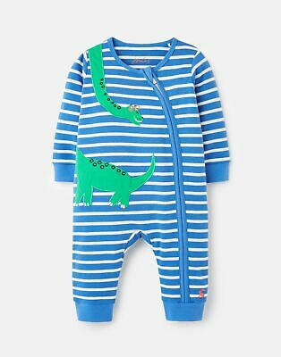 Joules Baby Boys Winfield Cotton Zip Sleepsuit 0-12 Months - Green Dino • 10.76£