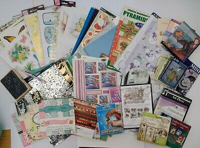 Card Making*Bundle*Job Lot* Assorted Items*Craft*Paper*Decoupage*CD-ROMs. • 5.99£