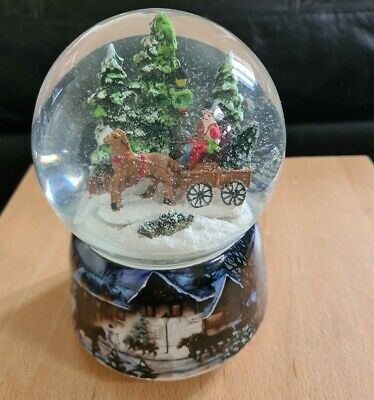 Käthe Wohlfahrt Moving Carriage Musical Snow Globe New Boxed • 14.99£