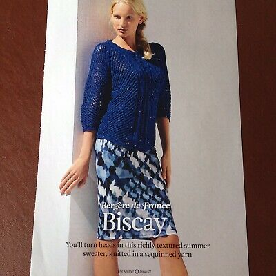 THE KNITTER - Bergere De France - BISCAY - Ladies Sweater, Knitting Pattern • 2.50£
