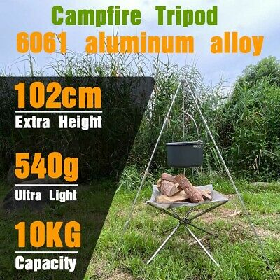 £16.78 • Buy New Outdoor Camping Campfire Cooking Tripod 102cm Camping Equipment Picnic Grill