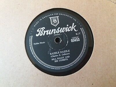 BILL HALEY AND HIS COMETS - Razzle Dazzle 78rpm  UK BRUNSWICK 05453 RARE • 10£