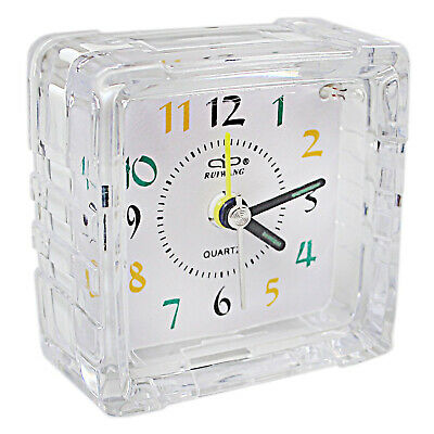 Small Mini Number Bedside Table Home Decor Silent No Tick Night Alarm Clock • 4.09£