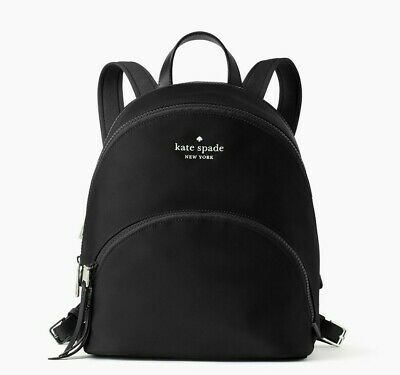 $ CDN121.06 • Buy NWT Kate Spade Karissa Nylon Medium Backpack In Black WKRU6586