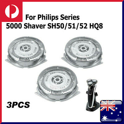 AU21.15 • Buy 3Pcs Shaver Heads Blades Replacement Fit For Philips Series 5000 SH50 SH51 HQ8