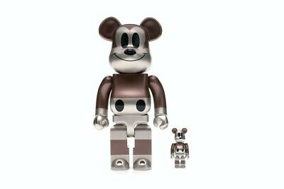 $325 • Buy Medicom Be@rbrick Disney X Undefeated Mickey 400% + 100% True Original Bearbrick