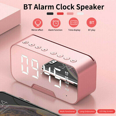 AU24.99 • Buy Mirror LED Alarm Clock Night Light Thermometer Digital Clock With USB Charging