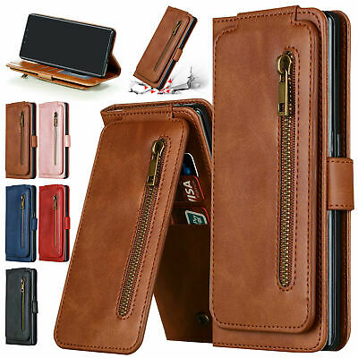 AU20.23 • Buy For Samsung S20FE S20 S10 S9 S8 S7+ Note 10+ 20 Zipper Case Leather Wallet Cover