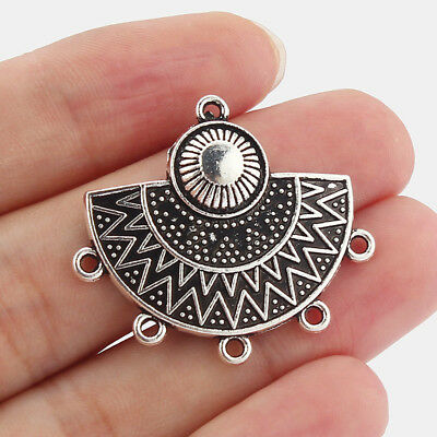 £3.61 • Buy 10Pcs Antique Silver Chandelier Earring/Necklace Connectors Jewellery Findings
