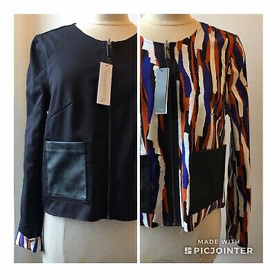 Trend By Captain Tortue Reveraible Collareless Jacket Size 10 - 12 BNWT • 39.90£