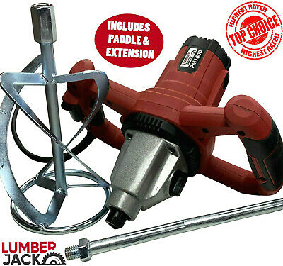 £59.99 • Buy Electric Plaster Paddle Mixer Drill Mortar Paint Cement Stirrer Whisk 1600W 240v