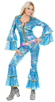 Ladies 70s Disco Queen Costume Dancing Queen Pop Diva Abba 1970s Fancy Dress • 21.50£