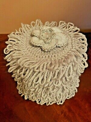Hand Knitted Grey Toilet Roll Cover With Grey Flower Top • 5.20£