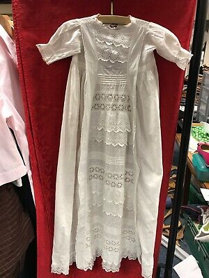 Vintage/ Vintage Style  Christening Gown Dress Cotton Child/ Baby • 2.99£