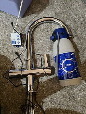 Grohe Blue Kitchen Filter Mixer Tap Chrome With Catridge & Head  (Used) Filtered • 50£