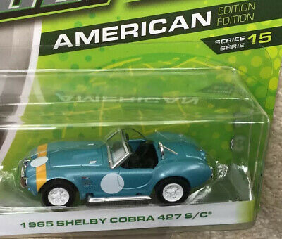 Shelby Cobra 427 S/C 1965. 1/64 Scale Greenlight Model. Real Rider Type Tyres • 7.95£