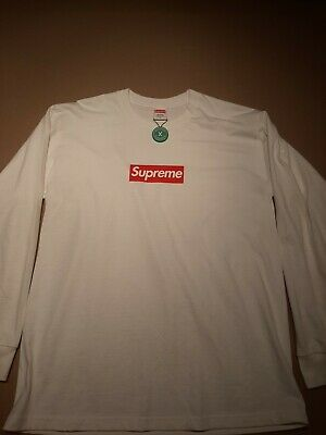 $ CDN190 • Buy Authentic Supreme Box Logo L/S Long Sleeve Tee Shirt White Size Medium